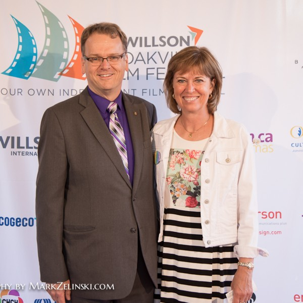 Lead Venue Sponsor, film.ca Cinema's Jeff Knoll with Liberal MP Pam Damoff.