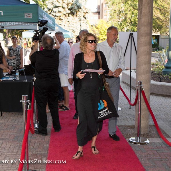 Guests arriving on the red carpet.