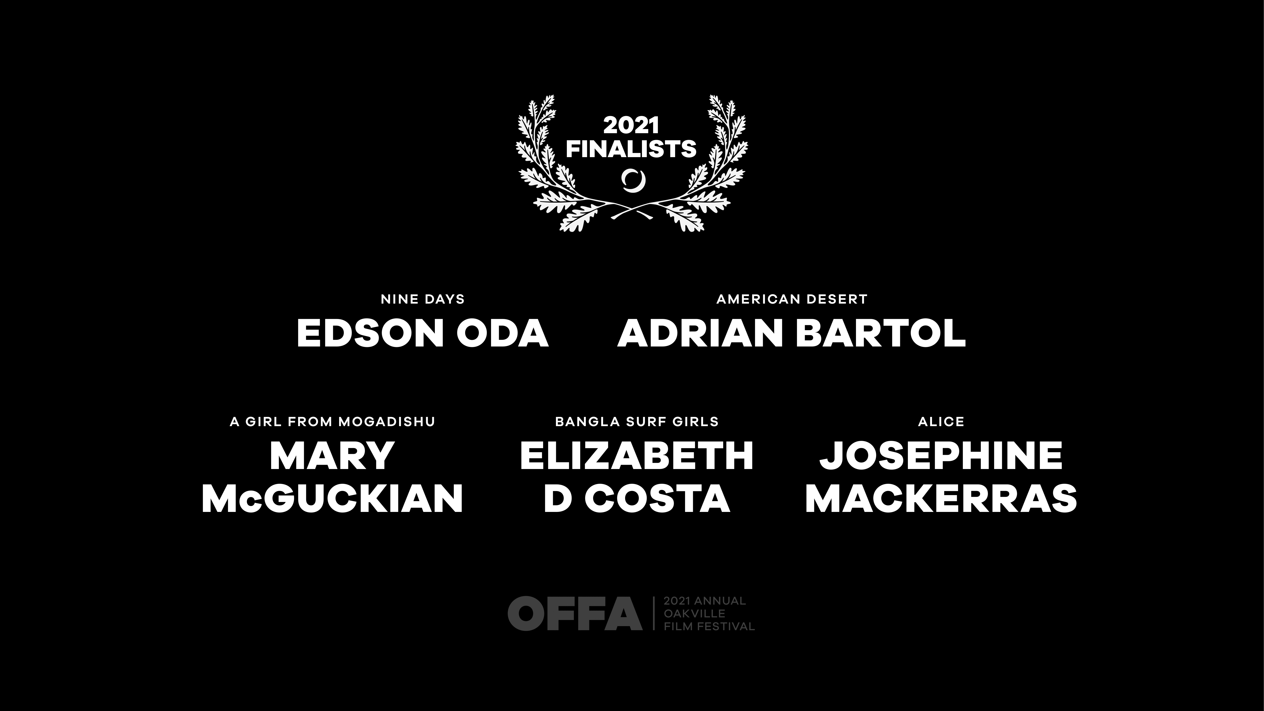 OFFA 2021 Best International Director Finalists