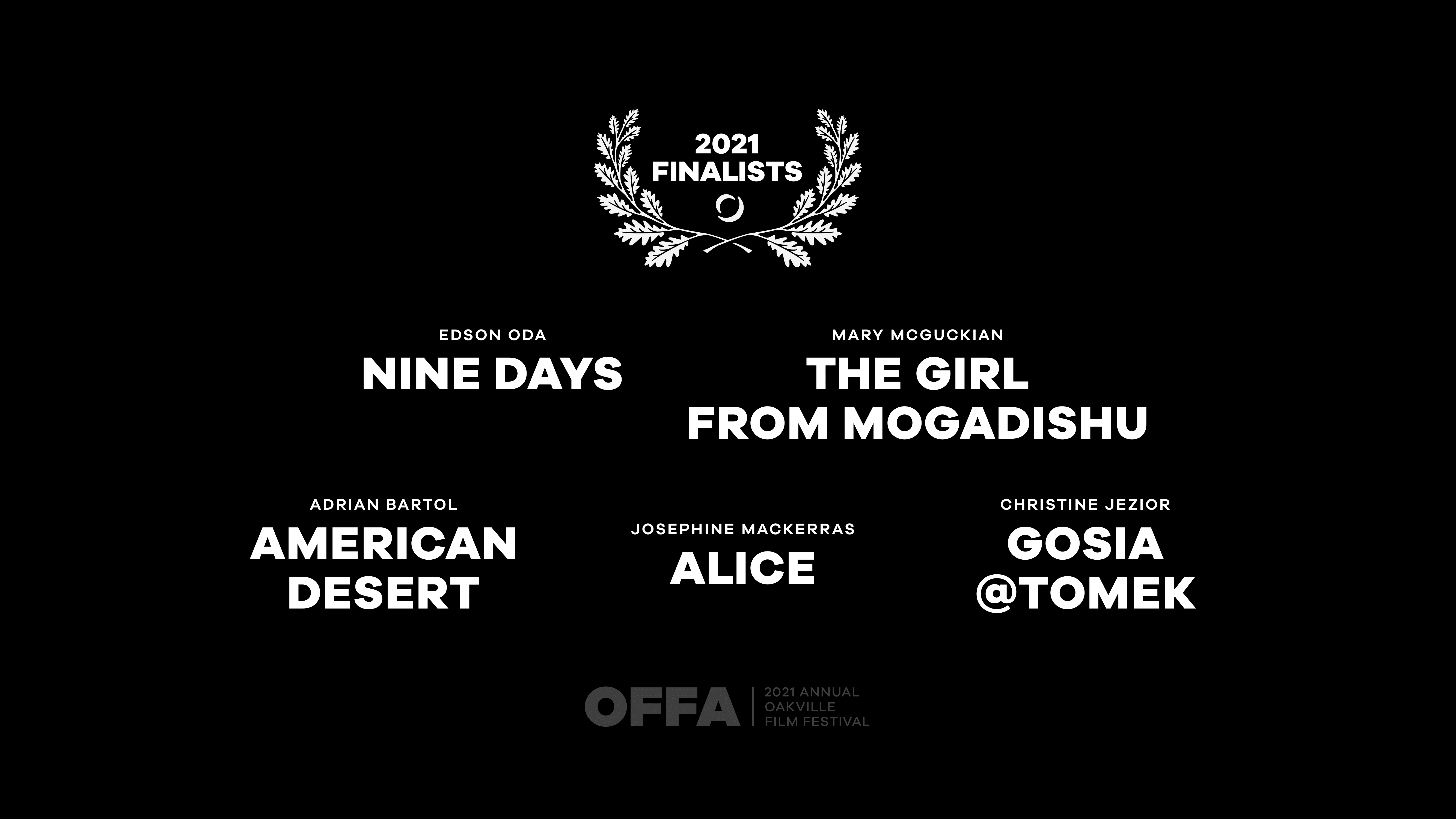 OFFA 2021 Best International Feature Film or Documentary Finalists